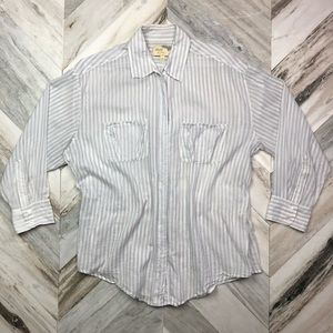 Elizabeth & James Casual Button Down Blouse Medium